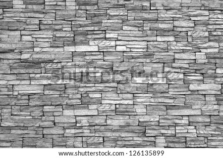 Modern Brick Wall Monochrome Photo 126135899