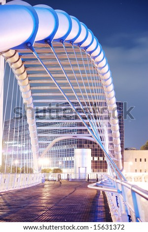 modern bridge architecture night scene