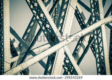 Modern Bridge frame closeup. Filtered image #298143269