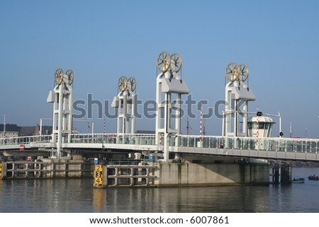 modern bridge in kappel in holland