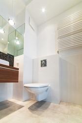 Modern bright bathroom interior