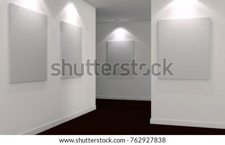 Modern bright interiors. 3D rendering illustration #762927838