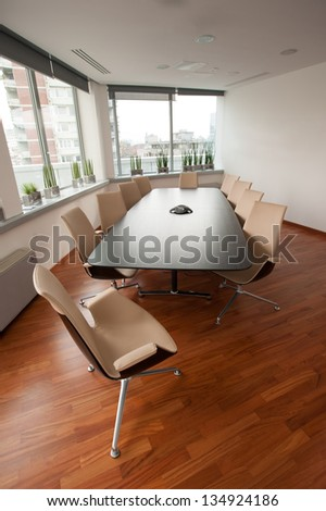 Modern bright meeting room office