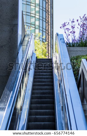 Modern building and escalator #656774146