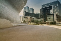 Modern building exterior with Modern architecture platform