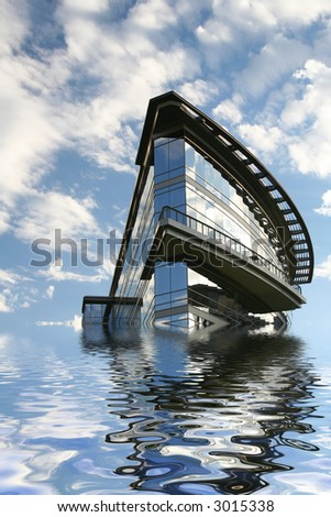 modern building flooding due to global warming