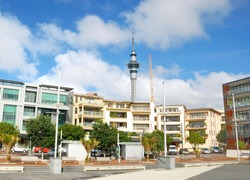 modern building in Auckland city, New Zealand