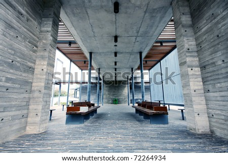 modern building indoor and chair