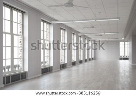 Modern building interior #385116256