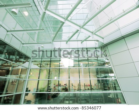 Modern building made by glass