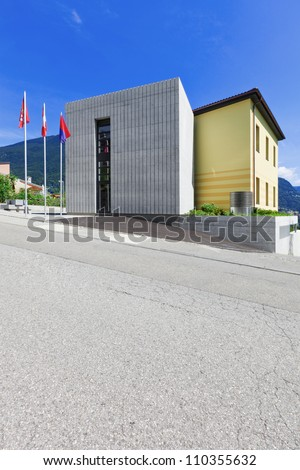 modern building on the street #110355632