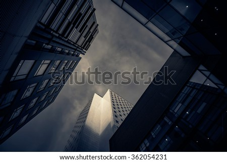 Modern buildings for business concepts - toned image #362054231