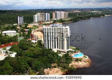 modern buildings in manaus city, brazil