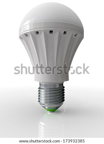 Modern bulb for illumination with technology LED energy saving up 3D