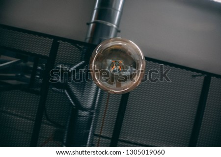 Modern bulb with modern ceiling.