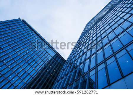 Modern business buildings in London #591282791