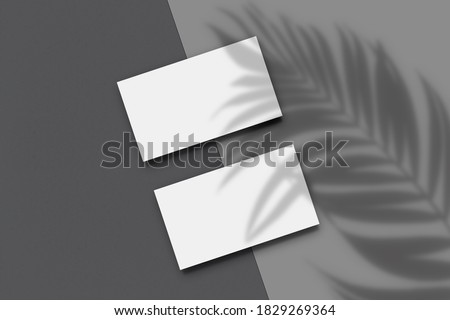 Modern business card  mockup template. Elegant design  layout For presentation branding, corporate identity, advertising, personal identity, stationery. Template with clipping path. 3D illustration  Foto stock ©