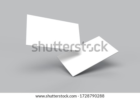 Modern business card mockup template with clipping path. Mock-up design for presentation branding, corporate identity, advertising, personal, stationery, graphic designers presentations. 3d Rendering