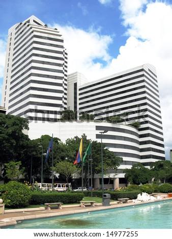 Modern business center at Plaza Francia in Caracas, Venezuela