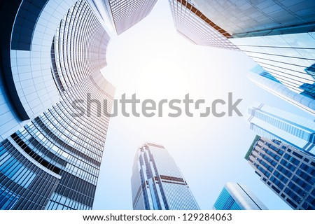 modern business center in hongkong