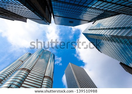 modern business center in hongkong