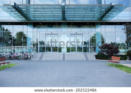 Modern business centre from the outside, horizontal #202522486