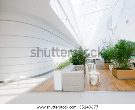Modern business interior. Very spacious and clean
