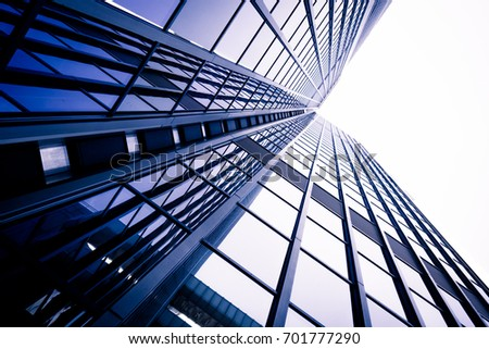 modern business skyscrapers. Office building close up. modern  glass wall #701777290