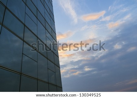 modern business window and blue sky