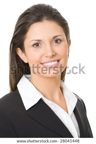 Modern businesswoman looking at camera
