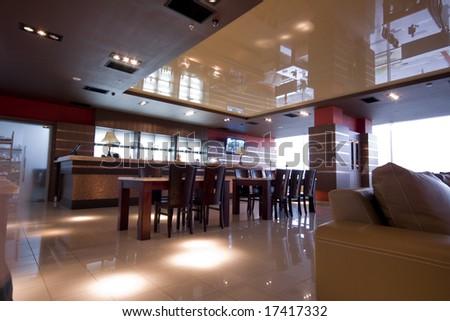 modern cafe interior photo