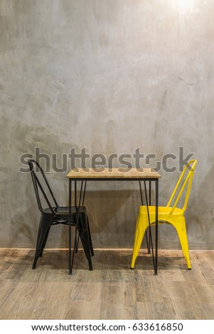 modern cafe interior table and...