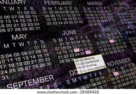Modern calendar, clip-art, background