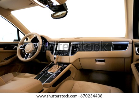 Modern Car dashboard #670234438