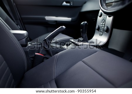 Modern car interior (shallow DOF - selective focus; color toned image)