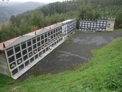 Modern cemetery in the mount of Galicia