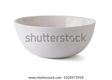 modern ceramic a bowl (beautiful shape) on white background.