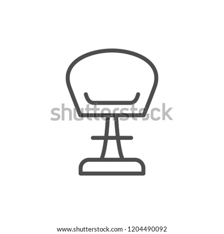 Modern chair line icon isolated on white