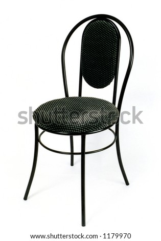 Modern chair on a white background