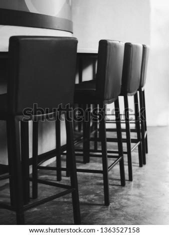 Modern chairs in modern room