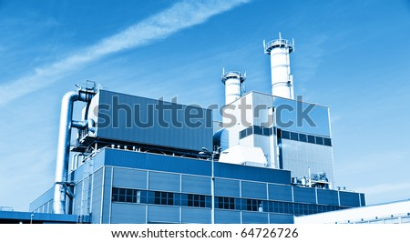 Modern chemical manufacturing plant construction
