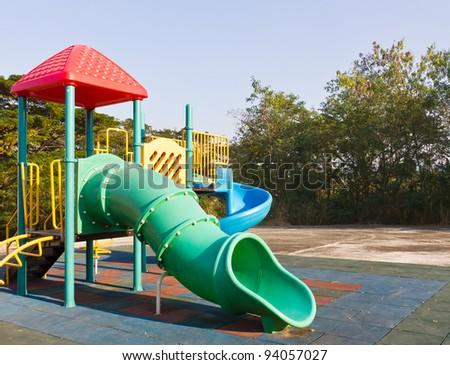 Modern children playground in park