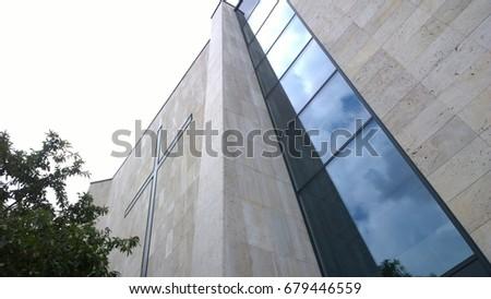 Modern christian building #679446559