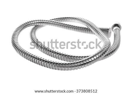 modern chrome hose isolated on...
