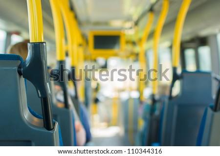 Modern city bus interior