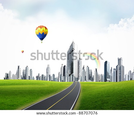 modern city. business concept