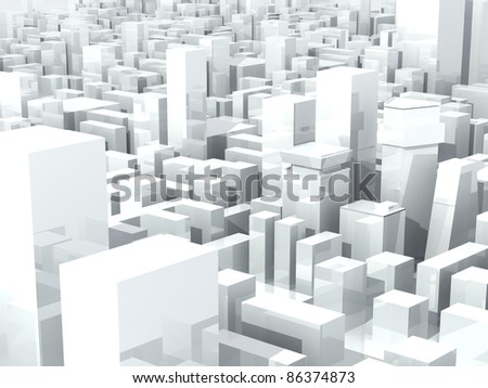 Modern city district composition - stock photo