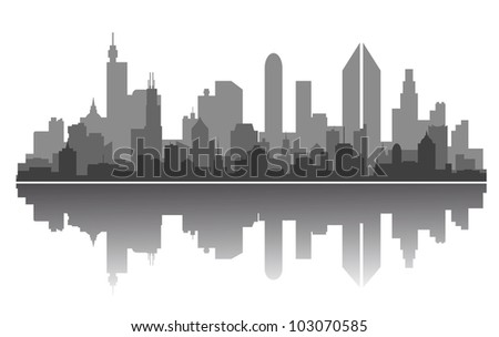 Modern city skyline for business or architecture concept design. Vector version also available in gallery
