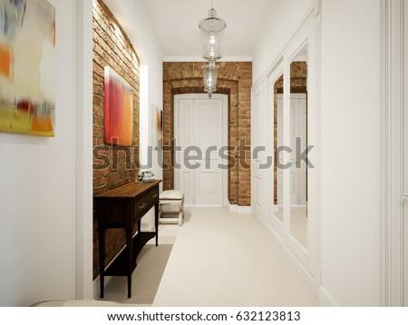 modern classic hall hallway...