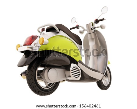 Modern classic scooter isolated on a white background #156402461
